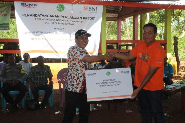 Penandatanganan Perjanjian Kerja Sama PT. Bank Negara Indonesia (BNI) Kantor Cabang Kupang Bersama BUMP PT. Setetes Madu Fatuleu, Kabupaten Kupang, Nusa Tenggara Timur